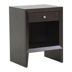 Baxton Studio Leelanau Brown Modern Accent Table and Nightstand