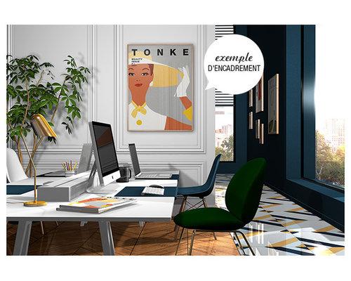 Affiche rétro femme - Imprimé et Poster