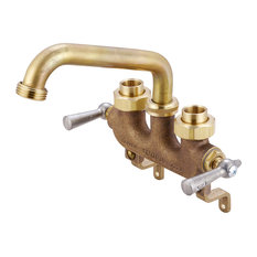 """Central Brass 0470 Two Handle Laundry Faucet with 6"""" Tube Spout and Offset Legs"""
