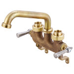 "Central Brass - Central Brass 0470 Two Handle Laundry Faucet - Brass - Central Brass 0470 Features: Covered under Pioneer's 10 year limited warranty Faucet body constructed of brass Dual lever handles control the flow and temperature of the water ADA compliant Central Brass 0470 Specifications: Faucet centers: 3-1/2"" Height: 6-13/16"" (deck to top of faucet) Width: 7-1/2"" (left to right)"