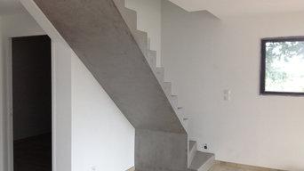 Beton ciré escalier