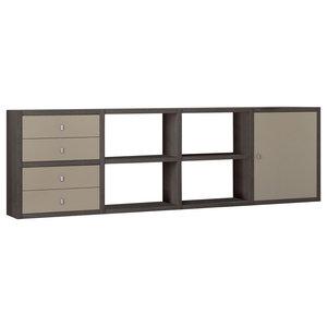 Torero Modular 4 Drawer Sideboard, Brown Oak and Sand