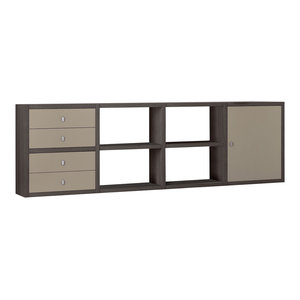 Torero Modular 4 Drawer Sideboard, Brown Oak and Sand