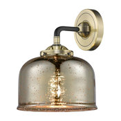 Large Bell 1Lt Sconce w/Dimmable Bulbs BAB