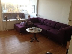 Add Very Large Art Over The Aubergine Sofa. Again, Donu0027t Be Afraid To Go  Bold.