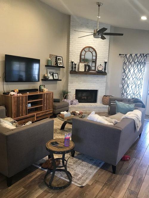 Mounting Tv On Brick Fireplace, Attaching Tv Mount To Brick Fireplace