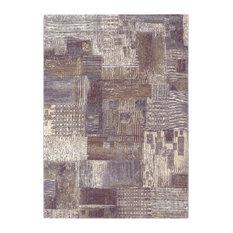 """Couristan, Inc. - Couristan Easton Abstract Mural Area Rug, Antique Cream, 5'3""""x7'6"""" - Area Rugs"""