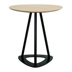Pop Oak Bistro Bar Table, Black