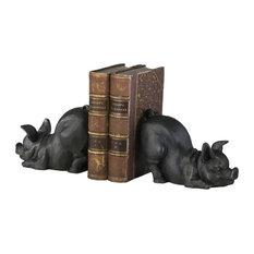 2-Piece Piggy Bookend Set