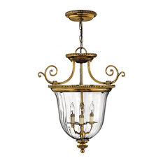 Hinkley Cambridge Foyer Medium Pendant, Burnished Brass