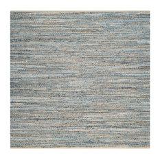 Safavieh Cape Cod Collection CAP350 Rug, Natural/Blue, 8' Square