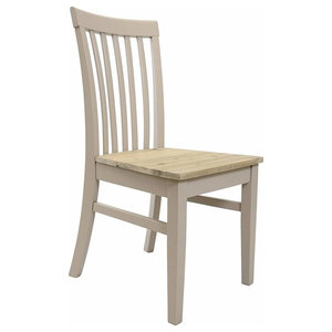 Contemporary Dining Chair, Solid Hard Wood Acacia, Ergonomically Designed