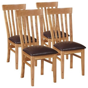 Durant Oak Dining Chairs, Set of 4