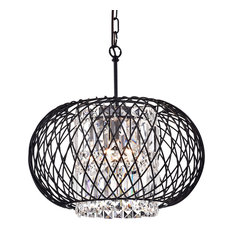 50 most popular contemporary chandeliers for 2018 houzz edvivi lighting drum chandelier antique black chandeliers aloadofball Images