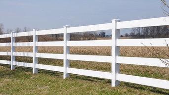 vinyl board fence