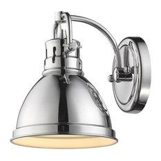 1-Light Chrome Bath-Light With Chrome Shade