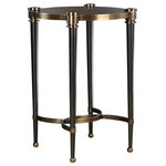 Uttermost - Uttermost Thora Brushed Black Accent Table - Bob and Belle Cooper founded The Uttermost Company in 1975, and it is still 100% owned by the Cooper family. The Uttermost mission is simple and timeless: to make great home accessories at reasonable prices. Inspired by award-winning designers, custom finishes, innovative product engineering and advanced packaging reinforcement, Uttermost continues to deliver on this mission.