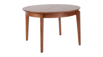 Round Extendable Walnut Dining Table