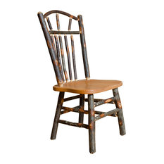 Rustic Hickory Wagon Wheel Dining Chairs Set Of 2 Side Chairs Without Arms