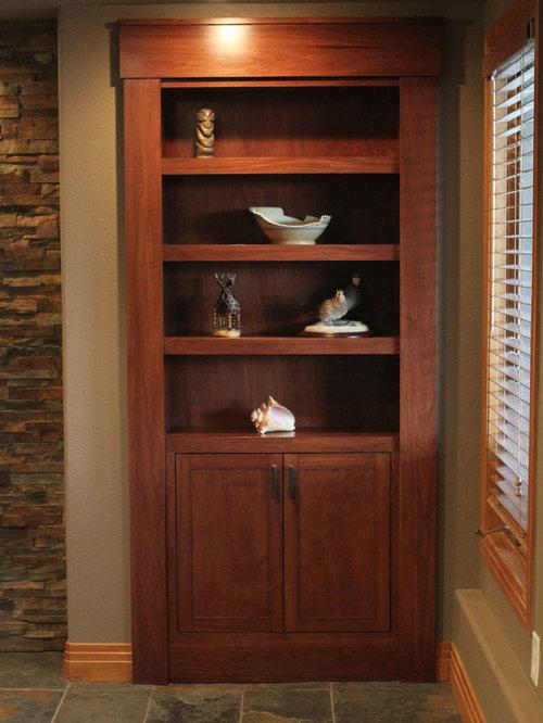 Hidden door bookcase houzz for Hidden door ideas