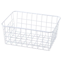 Wrought Iron Desktop Storage Basket Bathroom/Kitchen Storage Basket