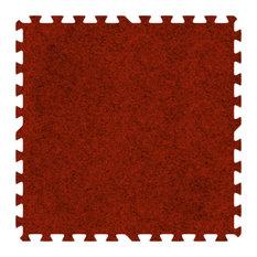 Alessco Eva Foam Rubber Premium Softcarpets 30'x30' Set, Red
