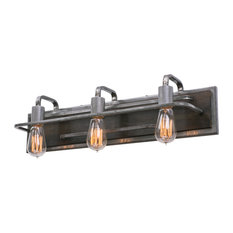 Lofty 3-Light Vanity Light, Steel