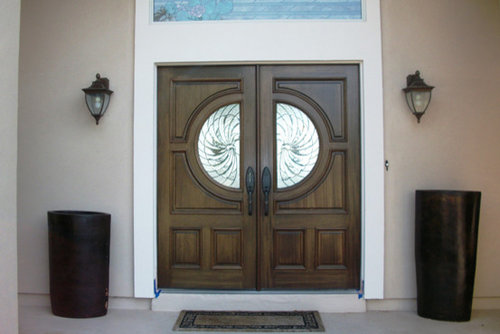 Excellent Decorative Glass Wood Front Doors Gallery - Exterior ...