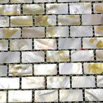 CHOIS - Walls Tiles Mother Of Pearl I-Shaped Shell Backsplash Decal Tile - Note: If you have any concerns that these tiles will not be suitable for your particular application,please buy a sample first to make sure.
