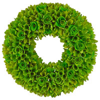 Green Woodchip Wreath