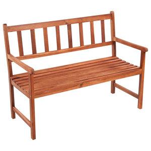 vidaXL Classic Wooden Garden Bench