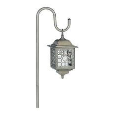 Manor House LV11040GI Flickering Low Voltage Light & Shepherd's Hook