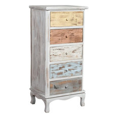 Distressed Chest of Drawers, Multicoloured