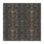 Luther Sand Skull Modern Damask Wallpaper Wallpaper Bolt