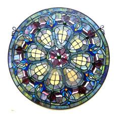 Chloe-Lighting Tiffany-Glass Baroque Window Panel