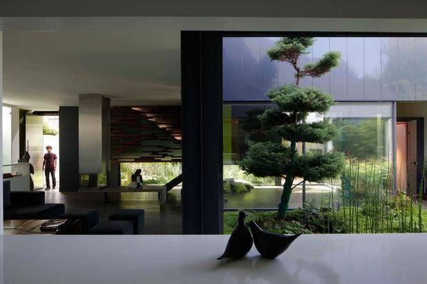 architecture la maison yume un ancien garage joue avec les reflets. Black Bedroom Furniture Sets. Home Design Ideas
