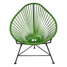 Innit Designs Acapulco Chair, Black Base, Cactus
