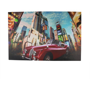 Battery Operated 8 Led Nyc Time Square Classic Car Canvas Wall Hanging 23 5 Contemporary Prints And Posters By Northlight Seasonal Houzz