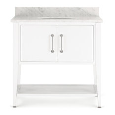 Bergen Single Bathroom Vanity, White, 36""