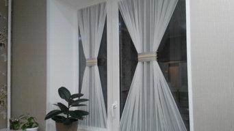 Шторы для маленького кухонного окна с дверью
