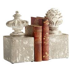 "Cyan Design Victoria 11"" Cement Bookends in Antique White"