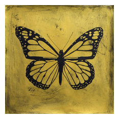 "Filippo Ioco ""Golden Butterfly"", 24""x24"" Edition on Canvas"
