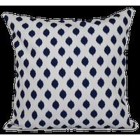 """Cop-Ikat Geometric Print Outdoor Pillow, Spring Navy, 18""""x18"""""""