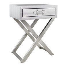 1st Avenue   Mackay Side Table, Silver   Side Tables And End Tables