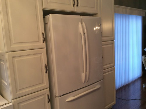 I Purchased A GE Profile Counter Depth Refrigerator To Be Built In With  Pantry Cabinets. The Contractor Says The Gaps Are Appropriate.