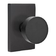 Charmant Emtek   Round Knob Dummy Pair With Modern RectangulaRose, Black   Doorknobs