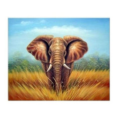 African Elephant Art Oil Paintings