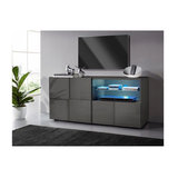 Dama (grey) 1 door 1 drawer TV unit
