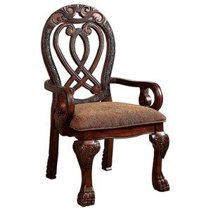 Wyndmere BM131195 Traditional Arm Chairs, Cherry, Set of 2, Cherry