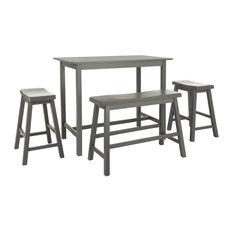 4-Pc Ronin Pub Table Set in Gray Finish